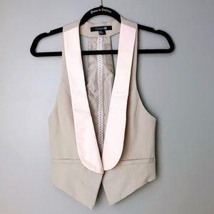 F21 Blush & Tan Vest